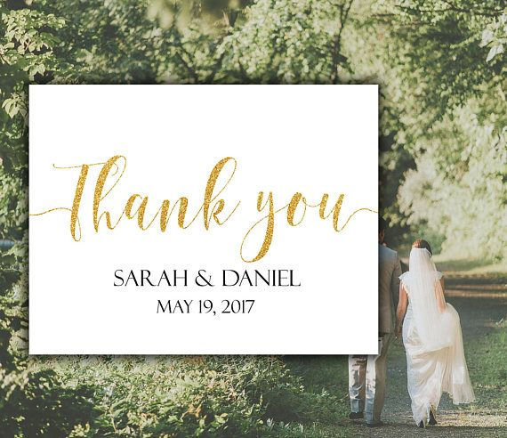 Thank you card  Thank you sign  Custom thank you  Wedding thank you Custom wedding cards  Calligraphy wedding  Wedding sign  thank you wedding  cards wedding  Wedding printable Thank you printable  Thank You  Gold wedding cards