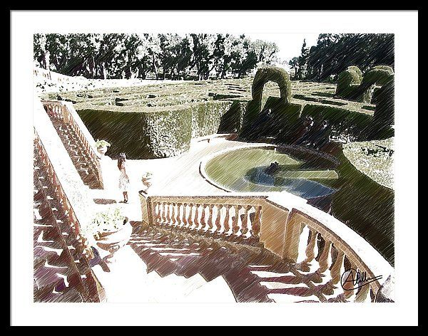 Park Framed Print featuring the painting Laberinto De Horta by Joaquin Abella (scheduled via http://www.tailwindapp.com?utm_source=pinterest&utm_medium=twpin&utm_content=post82900105&utm_campaign=scheduler_attribution)