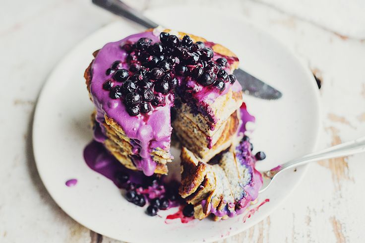 Chia Pancakes with Blueberries