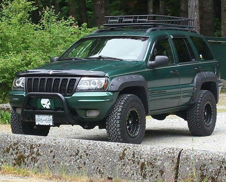 love my 99 Jeep Grand Cherokee ♡♡♡ #westcoastjeeps #bushwacker #99grandcherokee #wj #Punisher #greenmachine #grandcherokee #Cherokee #modifiedjeep #fenderflares