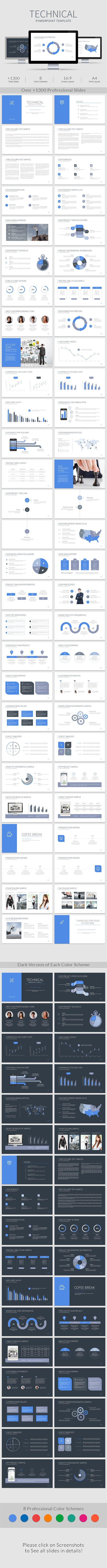 Technical PowerPoint Template #design #slides Download: http://graphicriver.net/item/technical-powerpoint-template/14113221?ref=ksioks