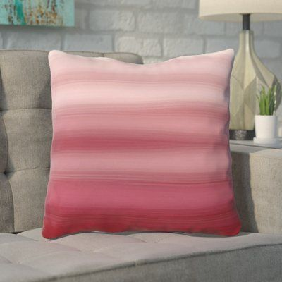 "Mercury Row Aguero Ombre Watercolors Throw Pillow Color: Dark Red, Size: 20"" H x 20"" W"