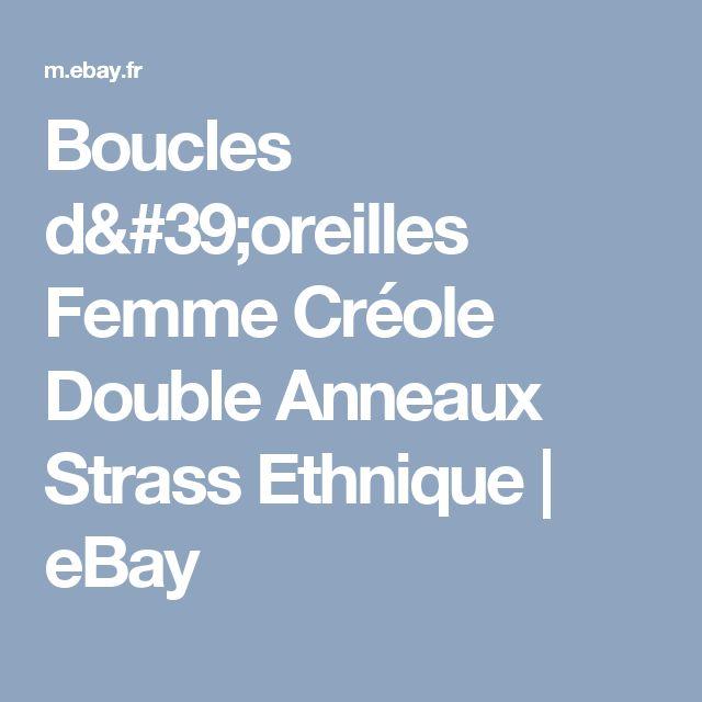 Boucles d'oreilles Femme Créole Double Anneaux Strass Ethnique    eBay