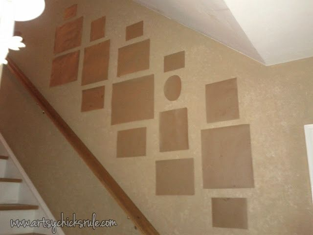 Wall Templates for Thrifty Gallery Wall: Plan your wall layout the smart way!!  artsychicksrule.com  #gallerywall Smart idea!!