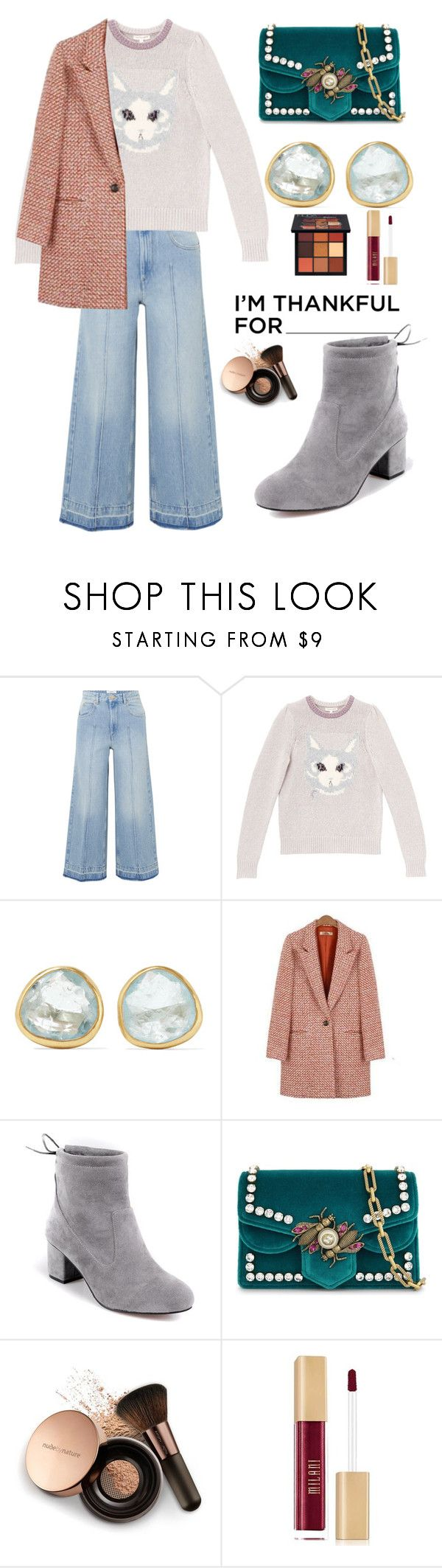 """uncle"" by explorer-14666874685 ❤ liked on Polyvore featuring Étoile Isabel Marant, Rebecca Taylor, Pippa Small, Gucci, Nude by Nature and Huda Beauty"