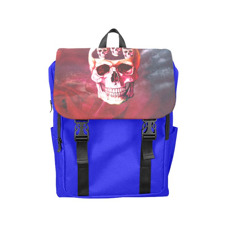 Funny Skull Casual Shoulders Backpack (Model 1623)