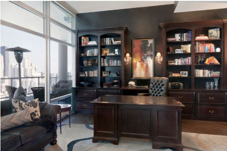 Sebastian's home office and his desk, where Rachel stumbles on the damning background file on her, giving her the proof that he's not the man he's led her to believe he is.
