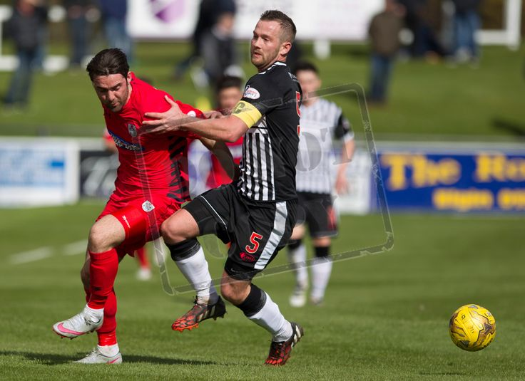 Queen's Park's Chris Duggan fights for the ball during the SPFL League Two game between Elgin City and Queen's Park