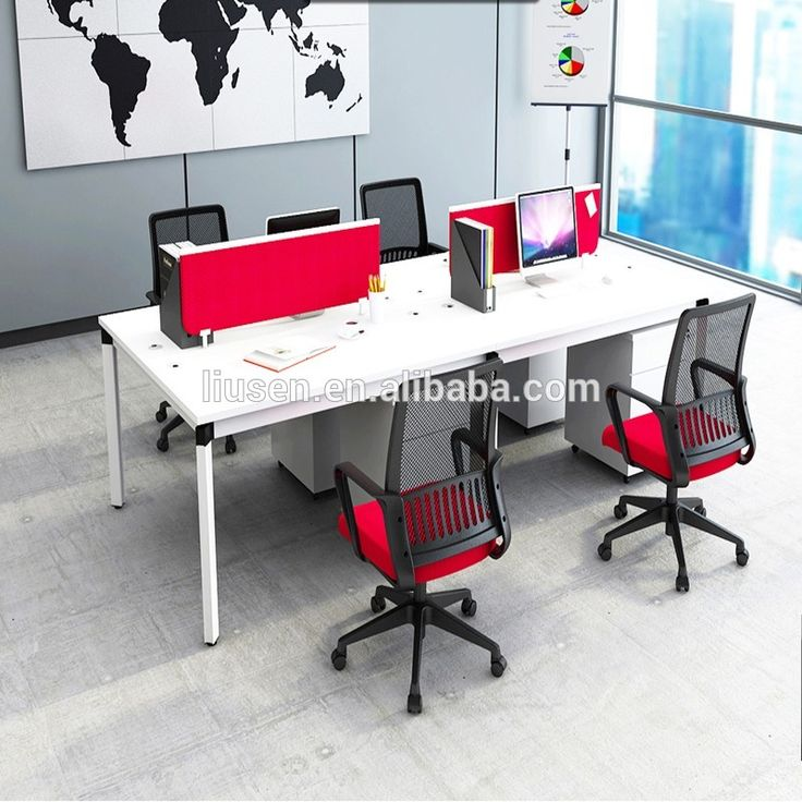 Factory direct sale cubicle furniture 4 person partition ...