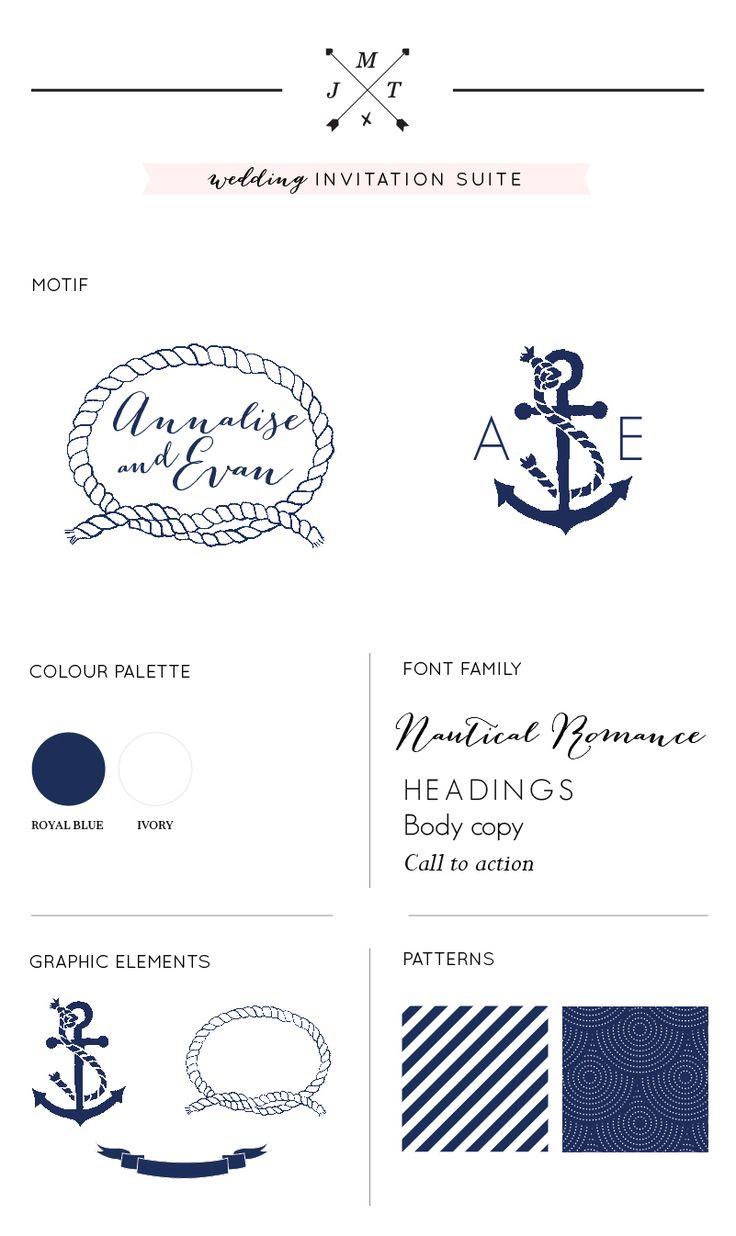 Nautical Wedding Invitation Suite | Just My Type