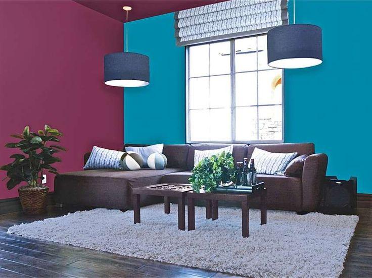 Abbinamenti colori pareti - Abbinamento a contrasto sulle pareti