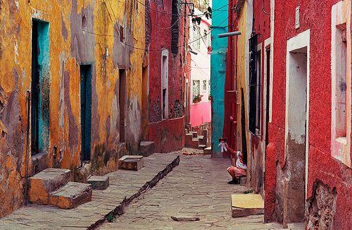Some Street in Guanajuato, #Mexico