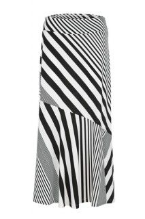 Black and white striped maxi skirt. #maxiskirt #summerstyle #tribalsportswear #skirt #summer #fashion #style