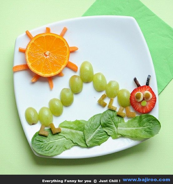 The Very Hungry Caterpillar snack for springtime! Funny Food Art You Can Try at Home (36 Photos) Pinned by Child Care Aware of Central Missouri.