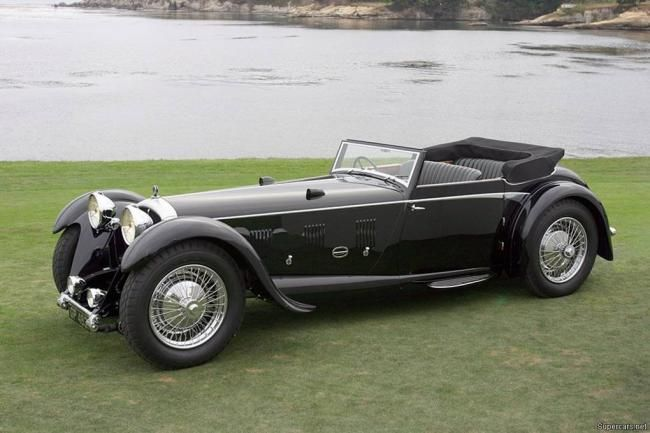 Beautiful black 1931 Daimler Double-Six 50 Corsica Drophead Coupé.  A treasure to any collector car fanatic's collection!