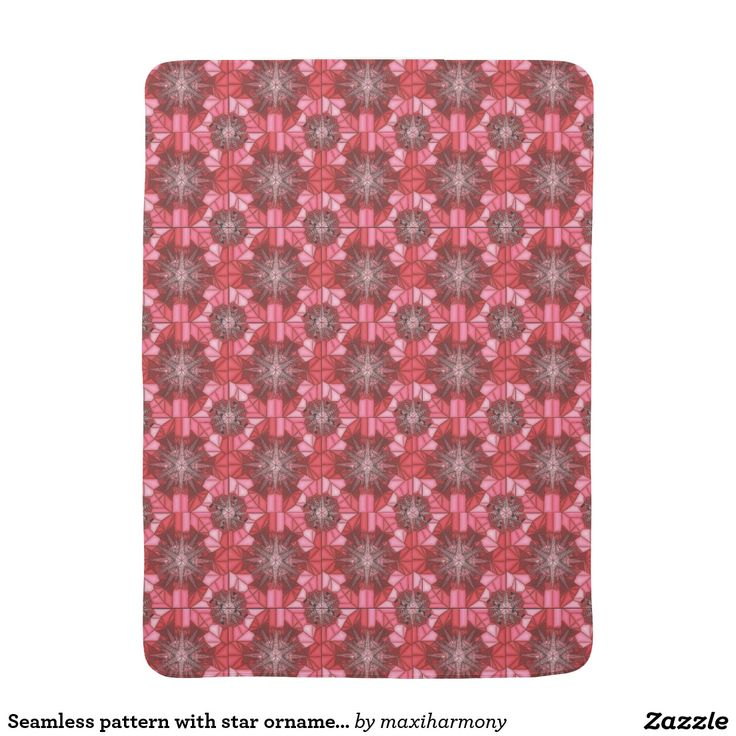 Seamless pattern with star ornaments receiving blanket
