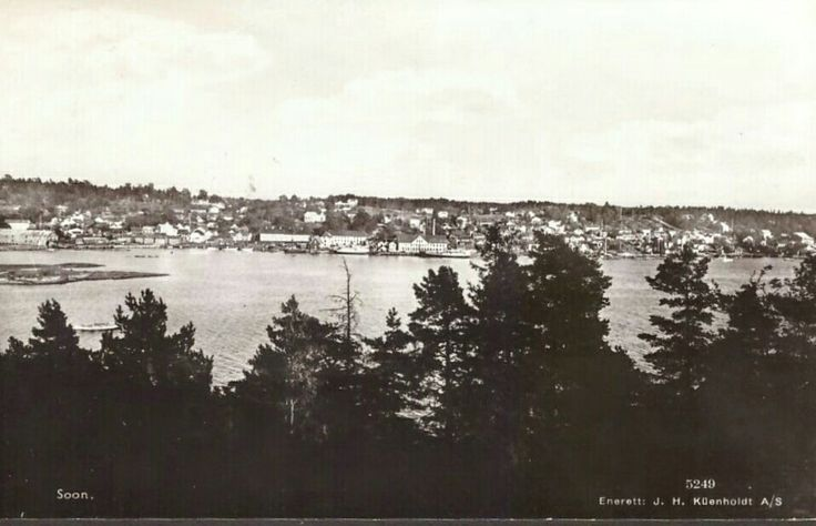 Akershus fylke Vestby kommune  Soon. Utg Küenholdt. Stemplet 1939