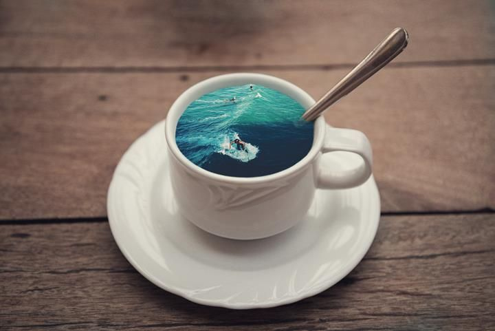 A cup of surfers #CoffeCupManipulation