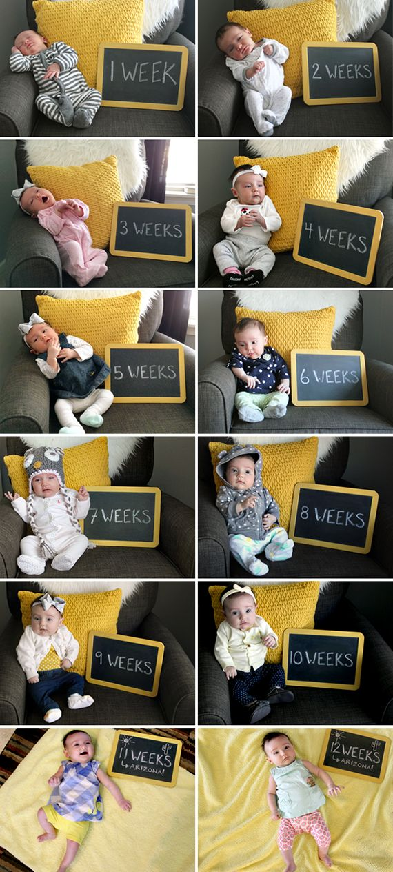 Documenting Baby, Week By Week (via Bubby and Bean)