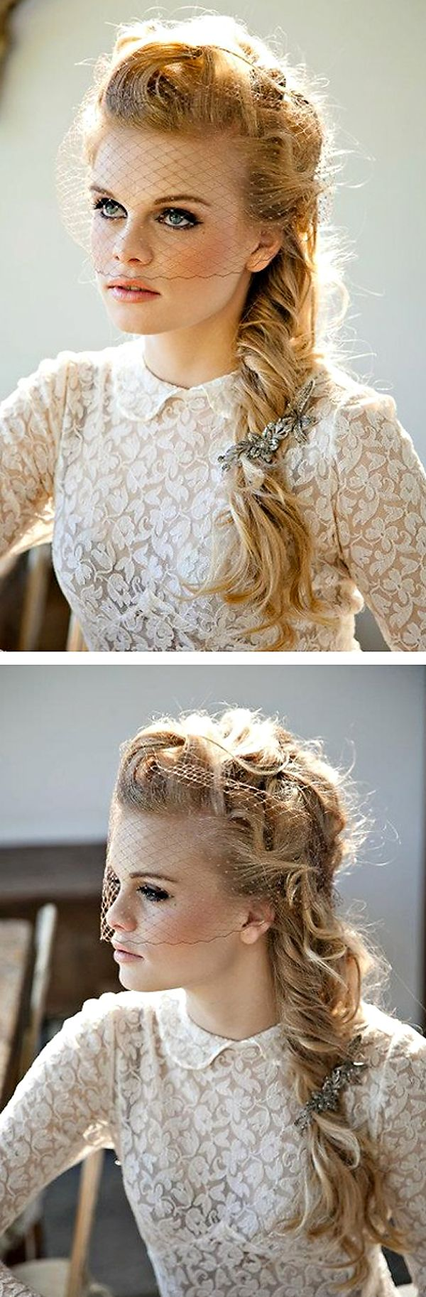 Fave! Love the soft, long, perfectly imperfect wedding hair braid