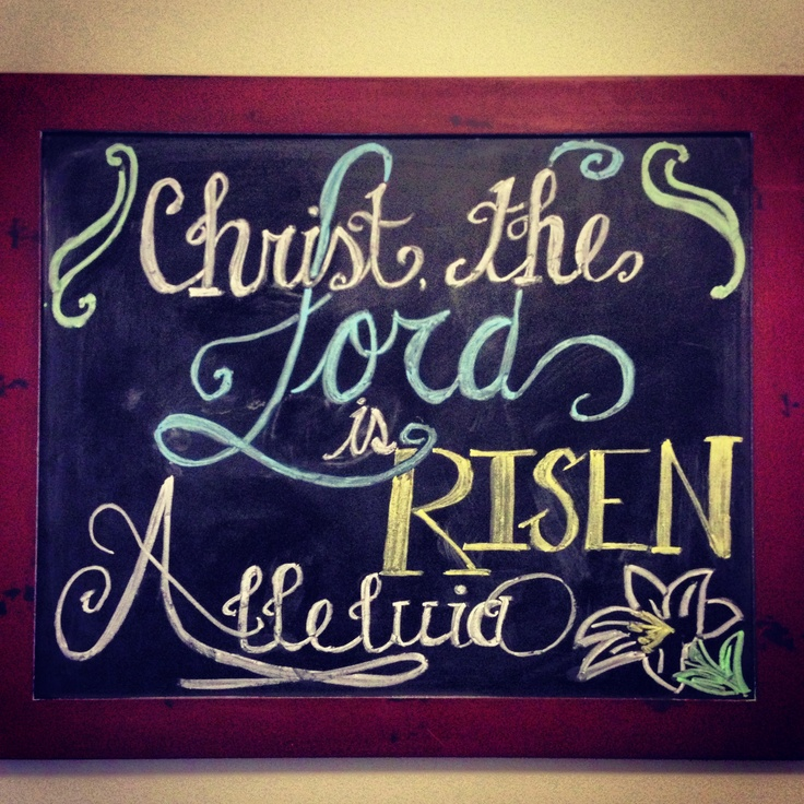 Easter chalkboard design