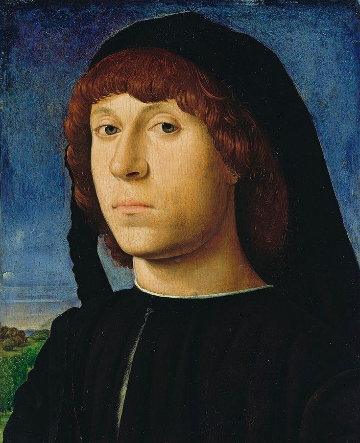 Antonello da Messina (1430-1479) — Portrait of a Young Man, 1478 : Gemäldegalerie, Berlin. Germany (832×1024)