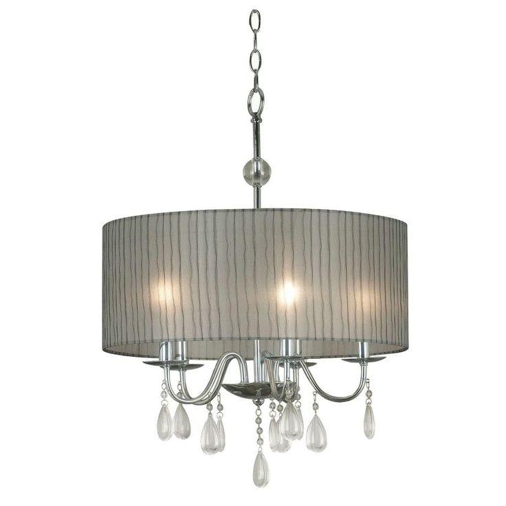 Kenroy Home Arpeggio 5-Light Chrome Pendant-91735CH - The Home Depot