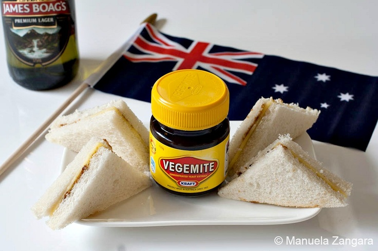 Vegemite and cheese sangas, an iconic Aussie snack!
