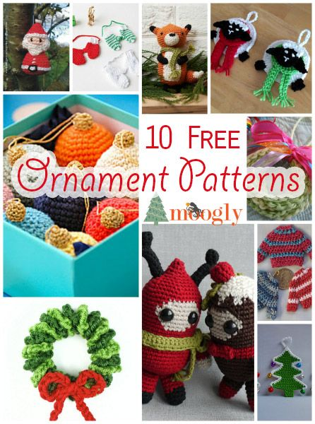 10 *More* Free #Crochet Ornaments Patterns - these are so perfect as small gifts, gift toppers, and holiday decorations!
