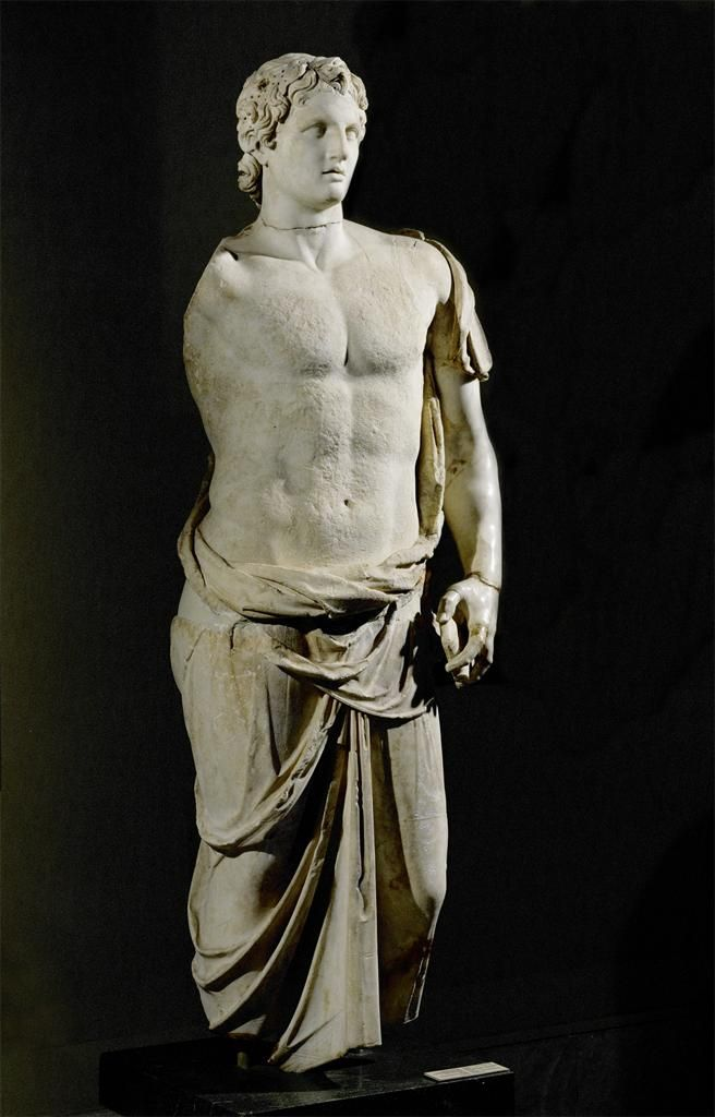 Hellenistic, Alexander the Great in a Himation, after an original by Lysippos, late 4th or 3rd century BCE