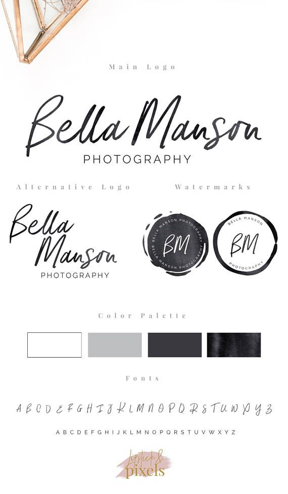 If you are searching for a photography logo or a branding kit, this listing is for you! Premade logo designs, at an affordable price. You can choose between a main logo, main + alternative logo and a full branding kit.