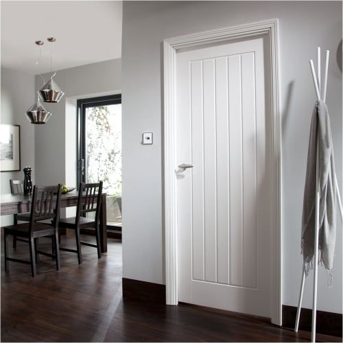 White cottage style internal door
