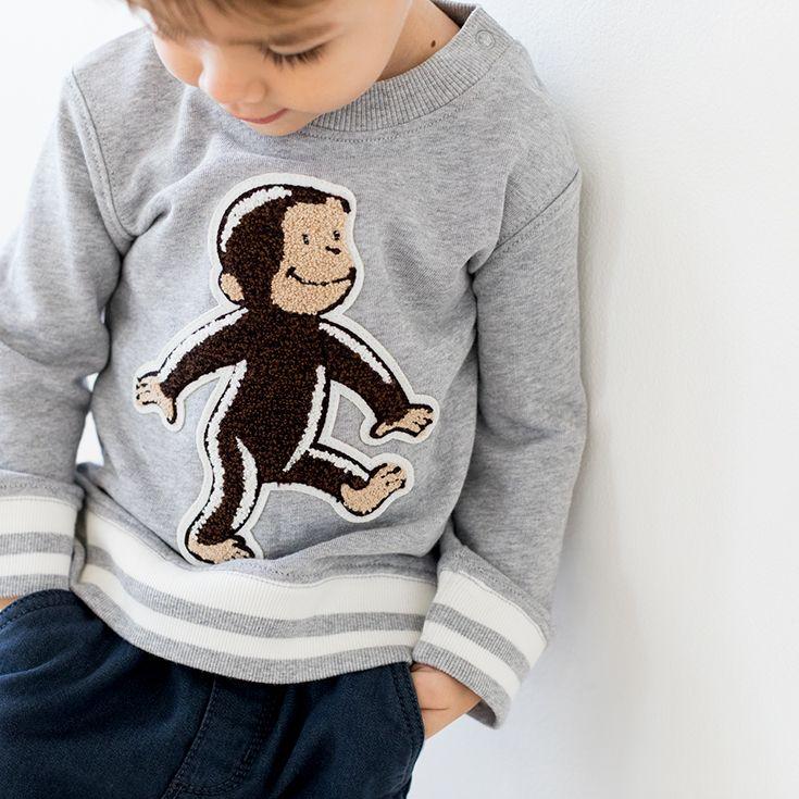 Curious George 174 Organic Cotton Sweatshirt By Hanna
