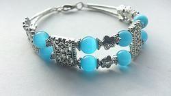OPAL & Tibetan Silver Antique Style Bracelet.  www.solace-designs.com