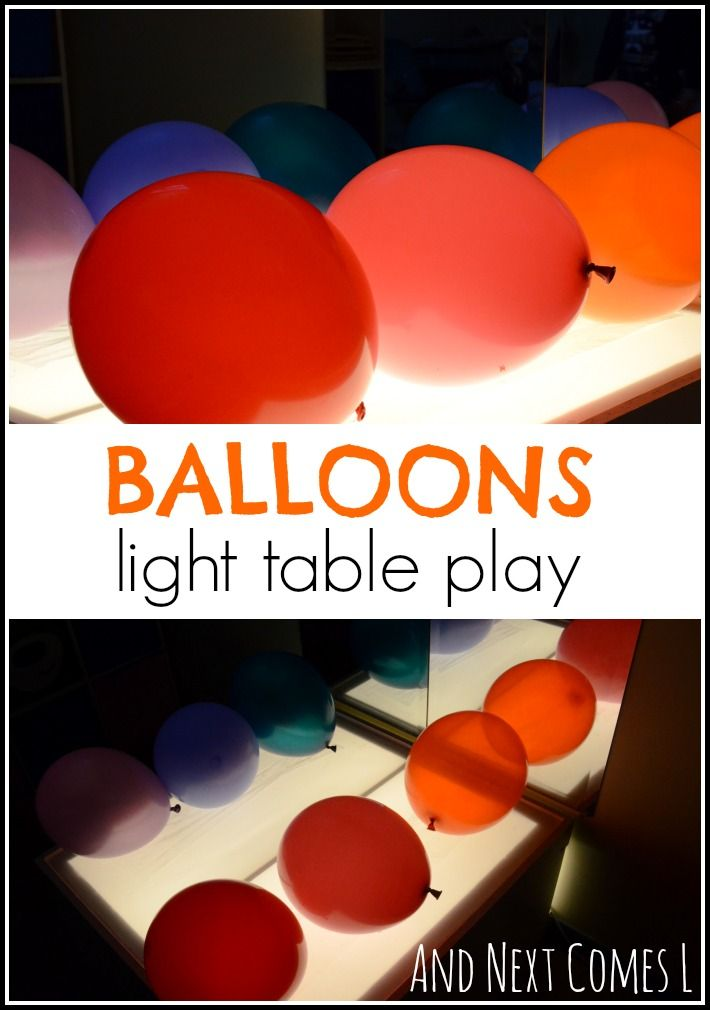 Balloons on a Sticky Light Table