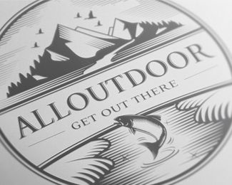 All Outdoor. Logo for fishing and hunting blog