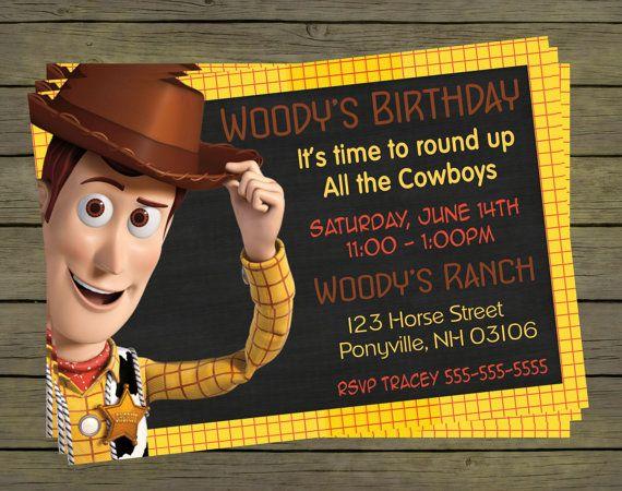 Woody Toy Story Digital Birthday Invitation  by PYOpartyinvites