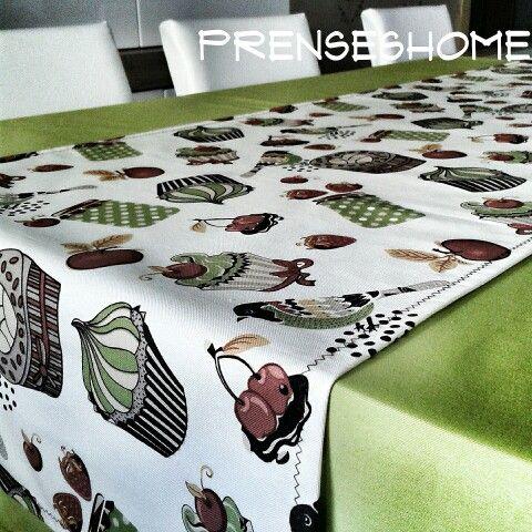 Mutfak masa örtüsü + runner ♥ sipariş için prenseshome@hotmail.com