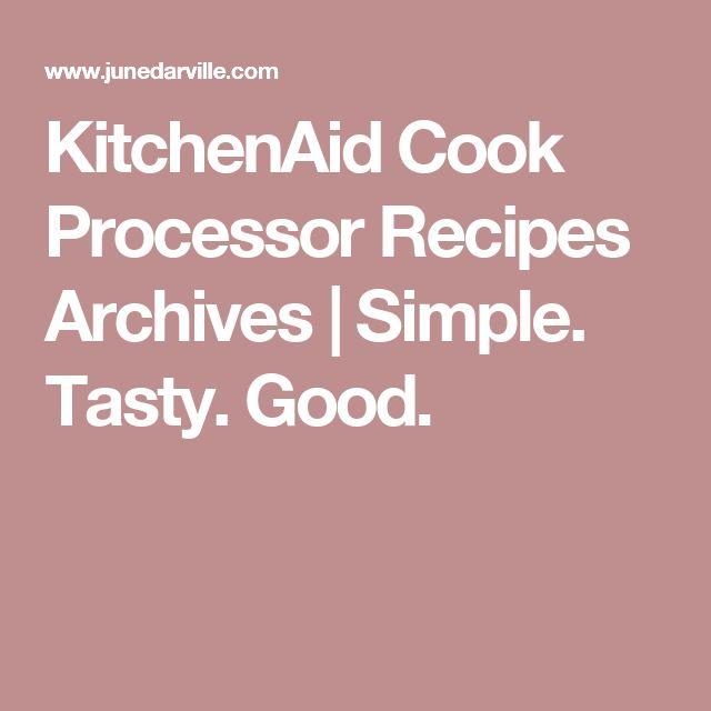 Die besten 25+ Kitchenaid cook processor rezepte Ideen auf
