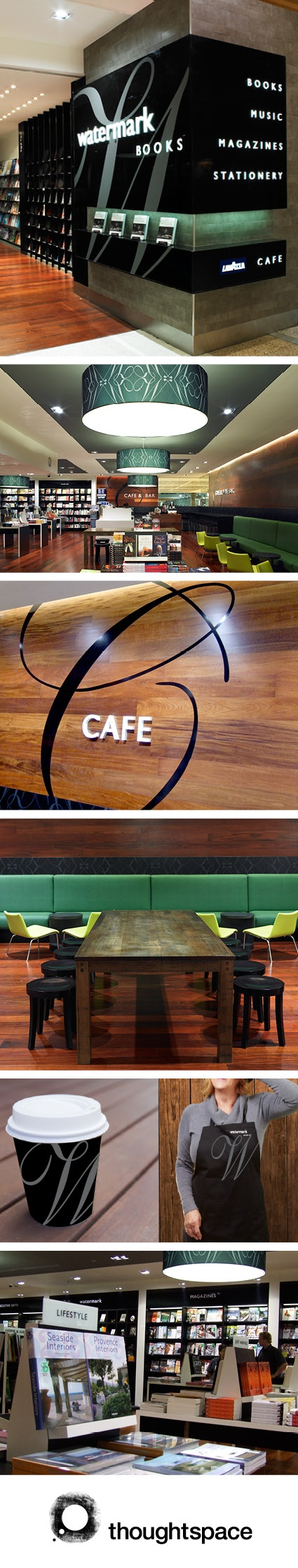 Retail Interior Design, Graphics & Signage Design. Watermark Books.  www.thoughtspace.com.au