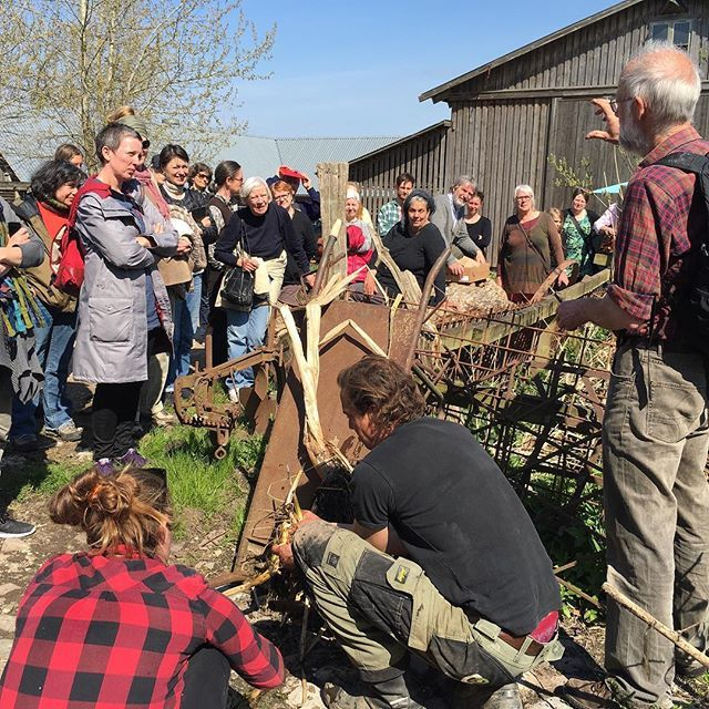 Edible perennial gardening course with Stephen Barstow at Fuglebjerggaard May 2016