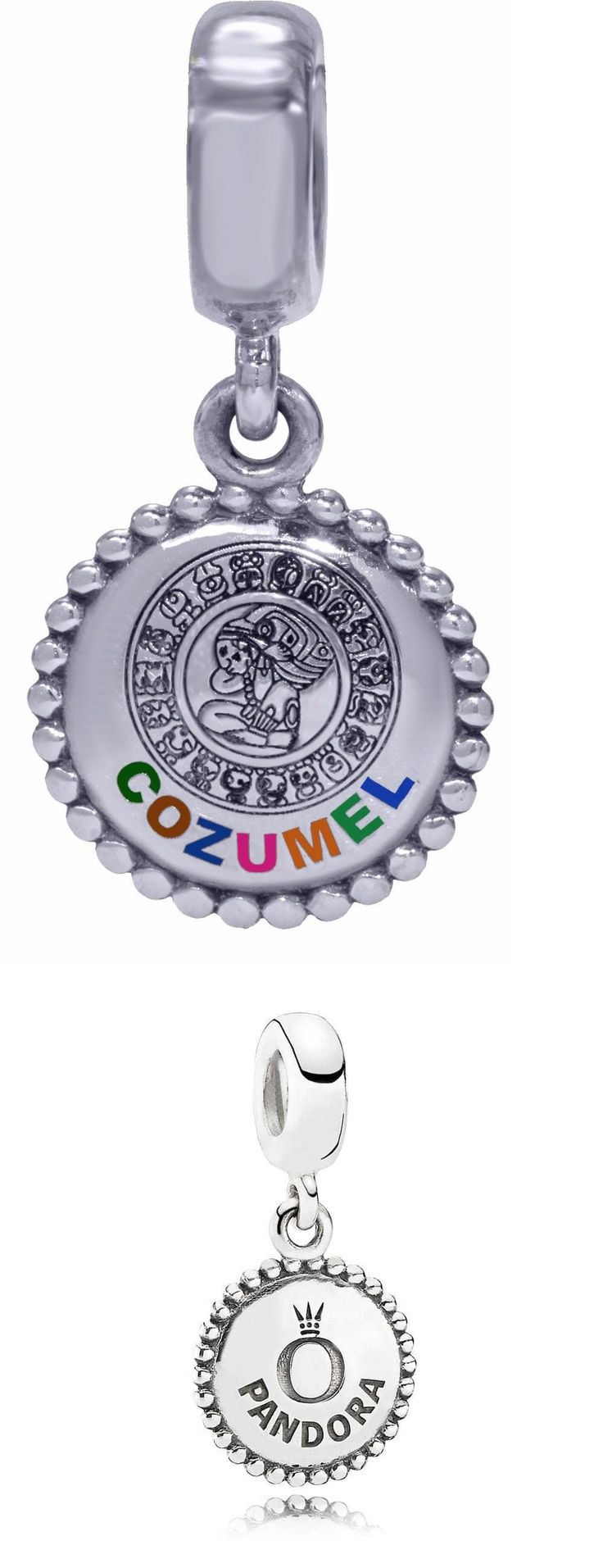 b8efc6bd8 Charms 134299 Authentic Pandora Cozumel, Mexico Charm With Mayan Calender  791169 - BUY ...