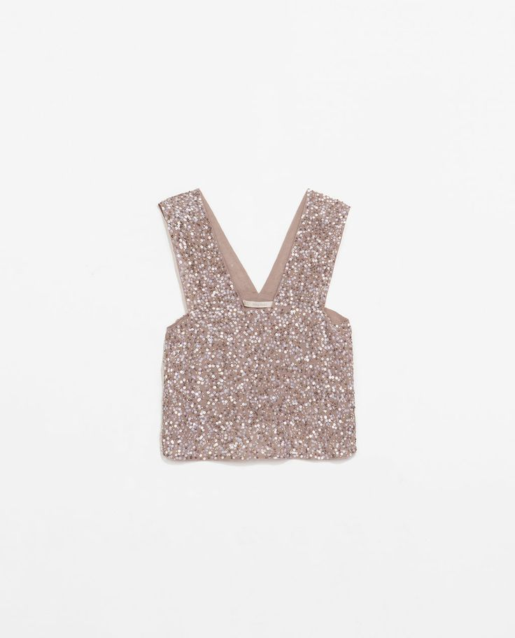 Image 7 of TOP WITH SEQUINS from Zara