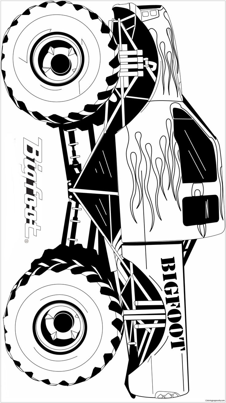 Monster Trucks In 2021 Monster Truck Coloring Pages Truck Coloring Pages Monster Truck Art