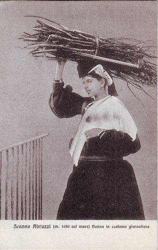 #Italy Scanno #Abruzzi - woman in costume giornaliero old unused #postcard - #AbruzzoRuralProperty