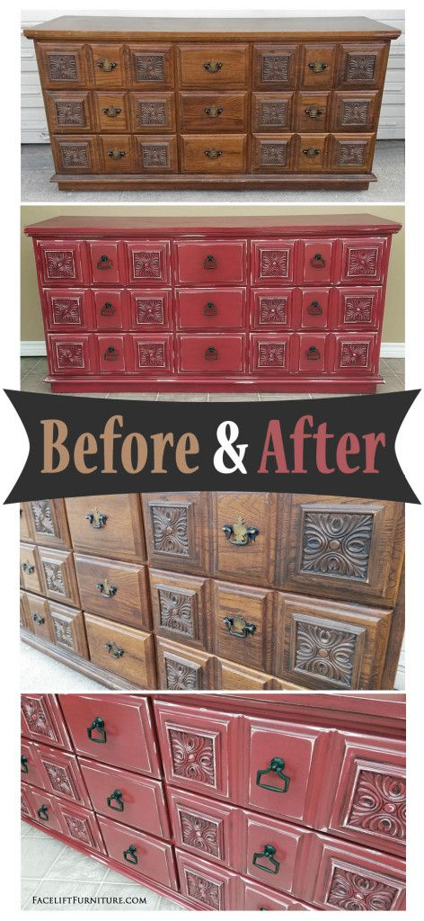 redo bedroom furniture. ornate dresser in distressed barn red before u0026 after bedroom furniturepainted redo furniture