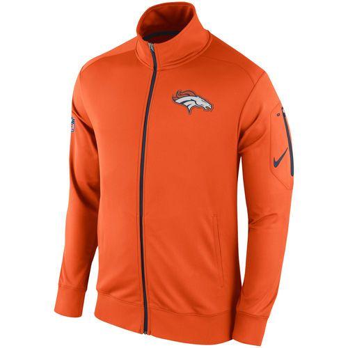 Men's Nike Orange Denver Broncos Empower Knit Full Zip Jacket