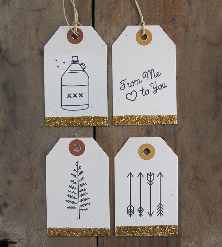 Glitter Gift Tag Assortment – Set of 12 | Gifts Cards & Stationery