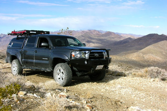 www.theadventureportal.com   2010 Tacoma TAP adventure vehicle on the Chloride City Trail, Death Valley National Park.