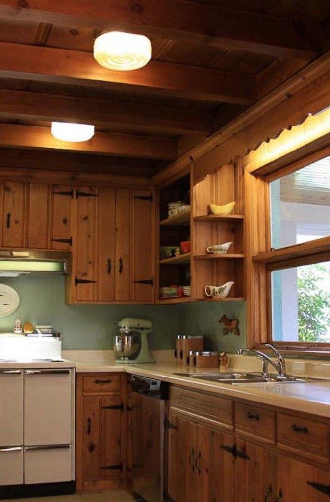 Knotty Pine Paneling Kitchen Cabinets Akitchendesigns Decorate Decor